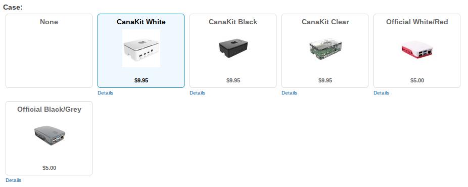 CanaKit Case menu