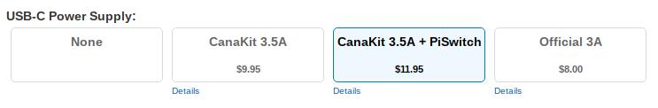 CanaKit Power menu